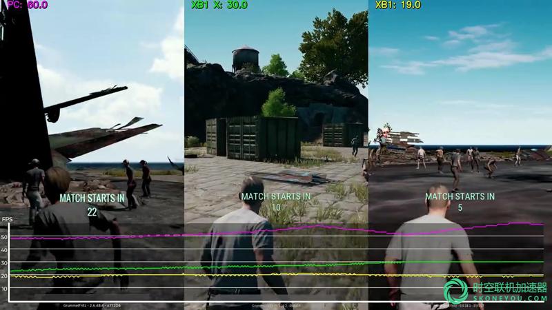 实测绝地求生PC、Xbox one、Xbox one X画面对比